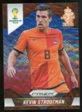 2014 Panini Prizm World Cup Prizms Blue and Red Wave #30 Kevin Strootman