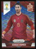 2014 Panini Prizm World Cup Prizms Blue and Red Wave #172 Sergio Ramos