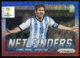 2014 Panini Prizm World Cup Net Finders Prizms Blue and Red Wave #2 Lionel Messi