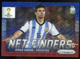 2014 Panini Prizm World Cup Net Finders Prizms Blue and Red Wave #3 Sergio Aguero
