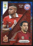 2014 Panini Prizm World Cup World Cup Matchups Prizms Blue and Red Wave #3 Arturo Vidal/Xavi Hernandez