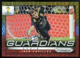 2014 Panini Prizm World Cup Guardians Prizms Yellow and Red Pulsar #21 Iker Casillas
