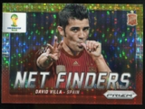 2014 Panini Prizm World Cup Net Finders Prizms Yellow and Red Pulsar #22 David Villa
