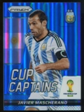 2014 Panini Prizm World Cup Cup Captains Prizms Blue #16 Javier Mascherano /199