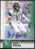 2011 Upper Deck Sweet Spot Autographs #3 Greg Salas RC