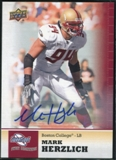 2011 Upper Deck Sweet Spot Autographs #10 Mark Herzlich RC
