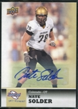 2011 Upper Deck Sweet Spot Autographs #19 Nate Solder RC