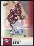 2011 Upper Deck Sweet Spot Autographs #70 Tandon Doss RC