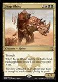 Magic the Gathering Khans of Tarkir Single Siege Rhino NEAR MINT (NM)