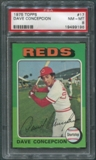 1975 Topps Baseball #17 Dave Concepcion PSA 8 (NM-MT) *9196