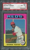 1975 Topps Baseball #87 George Foster PSA 8 (NM-MT) *2448
