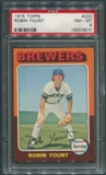 1975 Topps Baseball #223 Robin Yount Rookie PSA 8 (NM-MT) *3870