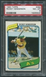 1980 Topps Baseball #482 Rickey Henderson Rookie PSA 8 (NM-MT) *5928