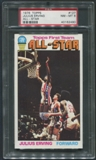 1976/77 Topps Basketball #127 Julius Erving All Star PSA 8 (NM-MT) *2490
