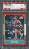 1986/87 Fleer Basketball #9 Larry Bird PSA 8 (NM-MT) *8376
