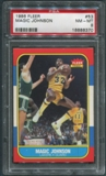 1986/87 Fleer Basketball #53 Magic Johnson PSA 8 (NM-MT) *8370