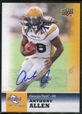 2011 Upper Deck Sweet Spot Autographs #50 Anthony Allen RC