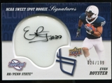 2011 Upper Deck Sweet Spot Rookie Signatures Variations #RSER Evan Royster Autograph /75