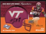 2011 Upper Deck Sweet Spot Rookie Signatures Variations #RSRW Ryan Williams Autograph /75