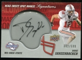 2011 Upper Deck Sweet Spot Rookie Signatures #RSDS Dane Sanzenbacher Autograph /599