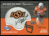 2011 Upper Deck Sweet Spot Rookie Signatures #RSKH Kendall Hunter Autograph /599