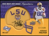 2011 Upper Deck Sweet Spot Rookie Signatures #RSTT Terrence Toliver Autograph /599