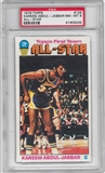 1976/77 Topps Basketball #126 Kareem Abdul-Jabbar All Star PSA 8 (MT) *9245