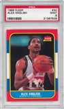 1986/87 Fleer Basketball #30 Alex English PSA 9 (MINT) *7508