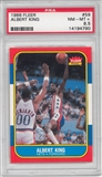 1986/87 Fleer Basketball #59 Albert King PSA 8.5 (NM-MT+) *4790