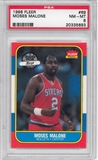 1986/87 Fleer Basketball #69 Moses Malone PSA 8 (NM-MT) *5693