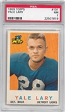 1959 Topps Football #131 Yale Lary PSA 7 (NM) *7819