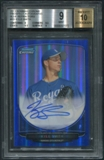 2013 Bowman Chrome #KS Kyle Smith Prospect Blue Refractor Rookie Auto #091/150 BGS 9