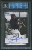 2012 Leaf Draft Player Edition Carlos Correa Rookie Auto #06/50 JSA