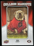 2012 Upper Deck College Mascot Manufactured Patch #CM18 Uga D