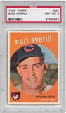 1959 Topps Baseball #301 Earl Averill PSA 8 (NM-MT) *0957