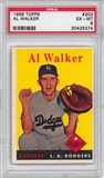 1958 Topps Baseball #203 Al Walker PSA 6 (EX-MT) *5374