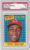 1958 Topps Baseball #484 Frank Robinson All Star PSA 5 (EX) *8484