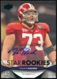 2012 Upper Deck Rookie Autographs #132 William Vlachos Autograph