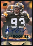2012 Upper Deck Rookie Autographs #217 Mike Daniels Autograph