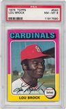 1975 Topps Baseball #540 Lou Brock PSA 8 (NM-MT) *7590