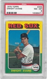 1975 Topps Baseball #255 Dwight Evans PSA 8 (NM-MT) *6471