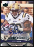 2012 Upper Deck Rookie Autographs #188 Jordan White Autograph