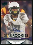 2012 Upper Deck Rookie Autographs #107 LaMichael James Autograph