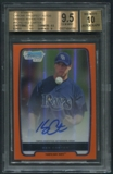 2012 Bowman Chrome Prospect #BCP62 Kes Carter Orange Refractor Rookie Auto #04/25 BGS 9.5