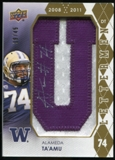 2012 Upper Deck Rookie Lettermen Autographs #RLAT Alameda Ta'amu*/serial #'d to 45,/letters spell HUSKIES Auto