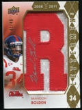 2012 Upper Deck Rookie Lettermen Autographs #RLBB Brandon Bolden*/serial #'d to 45,/letters spell REBELS Autog