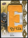 2012 Upper Deck Rookie Lettermen Autographs #RLBQ Brian Quick*/serial #'d to 25,/letters spell MOUNTAINEERS Au