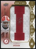 2012 Upper Deck Rookie Lettermen Autographs #RLCU Courtney Upshaw*/serial #'d to 25,/letters spell CRIMSON TID