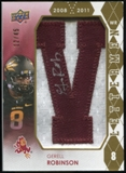 2012 Upper Deck Rookie Lettermen Autographs #RLGR Gerell Robinson*/serial #'d to 45,/letters spell SUN DEVILS