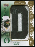 2012 Upper Deck Rookie Lettermen Autographs #RLLA1 LaMichael James*/serial #'d to 25,/letters spell DUCKS Auto